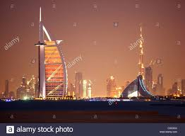 burj al arab images skyline of dubai left burj al arab and jumeirah beach hotel