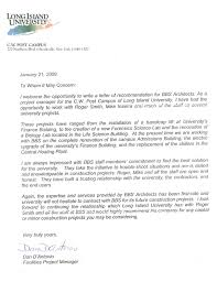 Reference Letter York recommendation letter construction project manager