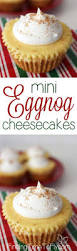 mini eggnog cheesecakes finding time to fly