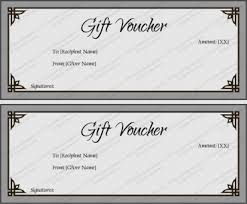 gift certificate templates editable and printable in word