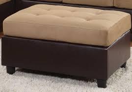 Brown Ottoman Homelegance Comfort Living Ottoman Brown Finish 9909br 4