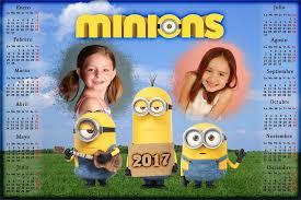 fotomontaje de calendario 2015 minions con foto hacer calendarios para photoshop calendario para el 2017 de los minions