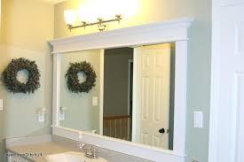 bathroom mirror frame ideas framed bathroom mirrors ideas aerojackson com