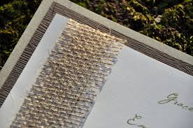 double mounted wedding invitations burlap wiregrass weddings