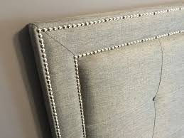 Gray Linen Headboard Baxton Studio Hirst Grey Linen Bed With Upholstered Headboard