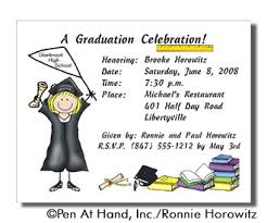 graduation personalized invitations by the personal note