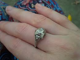 show me your art deco filigree engagement rings wedding bands