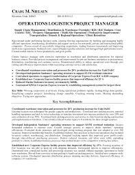 Sample Resume Of Project Coordinator Project Manager Cv Template Construction Management Jobs Logistics
