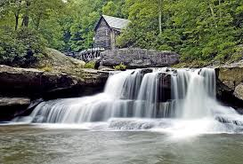 Park West Landscape by Old Grist Mill In Babcock State Park West Virginia Photograph By