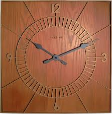 Wooden Wall Clock by Wood Square 50 Cm Nextime International