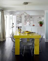 Yellow Dining Room Ideas Neon Yellow Dining Table Interior Design Ideas Ofdesign