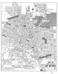 San Antonio Texas Map 1924 San Antonio Street Map Vintage 11x14 Print Poster