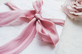 silk ribbon pink dyed bias cut habotai silk ribbon