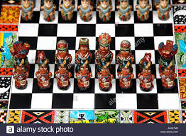 souvenir chess sets offered for sale in the markets of puerto