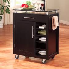 solid wood kitchen island cart furniture modern black mobile kitchen carts and portable kitchen