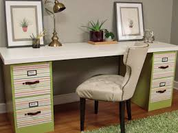 Diy Desk With File Cabinets Small Home Office Hacks And Storage Ideas Diy Desk With File