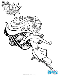 barbie super power saves coloring pages hellokids