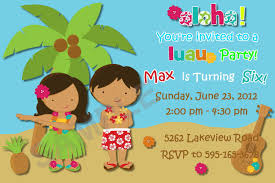 7 best images of hawaiian luau party invitations hawaiian luau