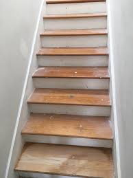 Staircase Laminate Flooring Refinishing Stair Treads To Mimic Wood Look Tile Floor Atlantic