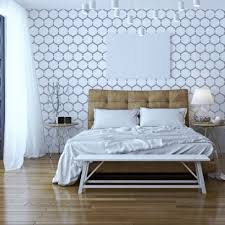 honeycomb floor wall furniture stencil by dizzy duck designs