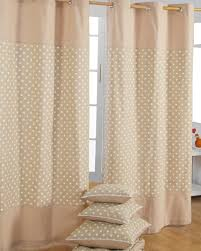 Eyelet Curtains Cotton Stars Beige Ready Made Eyelet Curtain Pair Homescapes