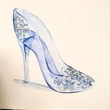 drawn shoe glass slipper pencil color drawn shoe glass