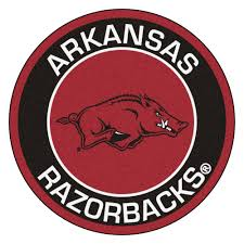 of arkansas razorbacks logo roundel mat 27