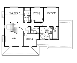 farmhouse style house plan 4 beds 2 50 baths 2700 sq ft plan