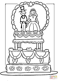 princess wedding dress coloring free printable