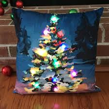 light up tree pillow cover in home decor gifts