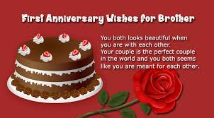 25th Wedding Anniversary Wishes Messages 1st Wedding Anniversary Wishes For Brother Wishes4lover