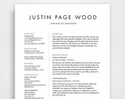 Cv And Resume Sample by Resume Design Cv Template Minimalist Resume By Jpwdesignstudio