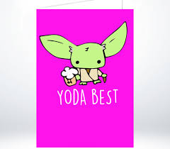 wars congratulations card fathers day yoda best s day greeting card thank you card
