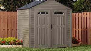 Lowes Sheds by Sheds Rubbermaid Horizontal Storage Shed 32 Cubic Ft Home Depot