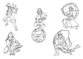 28 avatar airbender coloring pages images