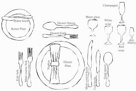 Proper Table Setting Silverware Brilliant Formal Table Setting Interior Design To Nice A Formal