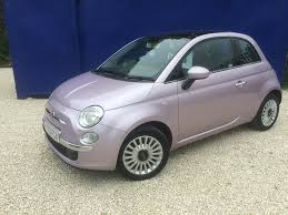 fiat 500 used metalic pink fiat 500 for sale south yorkshire