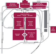 Savannah Ga Map Parking Map Savannah Hilton Head International Airport