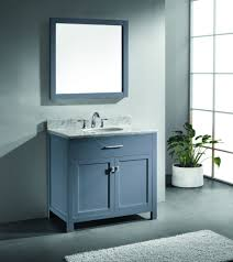 Virtu USA Caroline  Single Bathroom Vanity Set In Grey - Virtu usa caroline 36 inch single sink bathroom vanity set