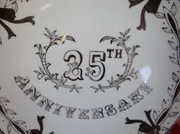 25th wedding anniversary plates 1950s vintage painted lefton porcelain 25th silver wedding