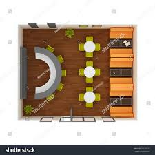 cafe bar restaurant floor plan top stock illustration 205129774