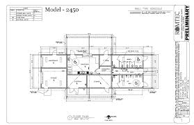 community centers romtec inc drawing of large concession restroom community building