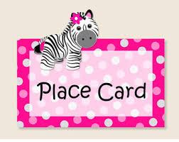 pink baby zebra baby shower decorations zebra birthday