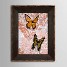 3d Bedroom Wall Paintings Animal 3d Butterflies On Satined Paper Yellow Butterfly Painting