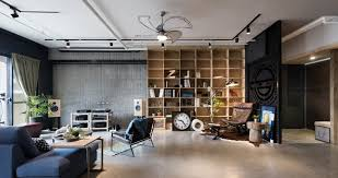 industrial modern design vintage industrial home for a couple and their three cats in taiwan