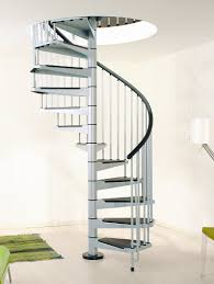 Stainless Steel Handrail Designs Stair Good Space Saving Spiral Staircase Design With Stainless