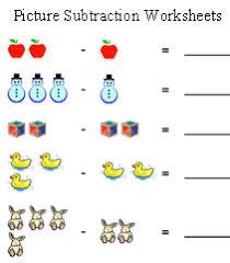 kindergarten subtraction worksheets worksheets