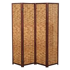 Privacy Screen Room Divider by Decorative Brown Wood U0026 Bamboo 4 Panel Privacy Screen