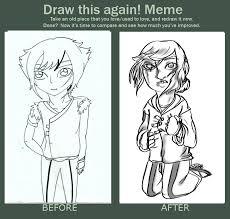 Draw This Again Meme Template - old vs new art meme by xxckikakosarimaryxx on deviantart