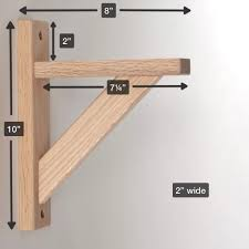 Wood Shelving Brackets by Amazon Com Wood Shelf Bracket Oak Straight 8 Hardware